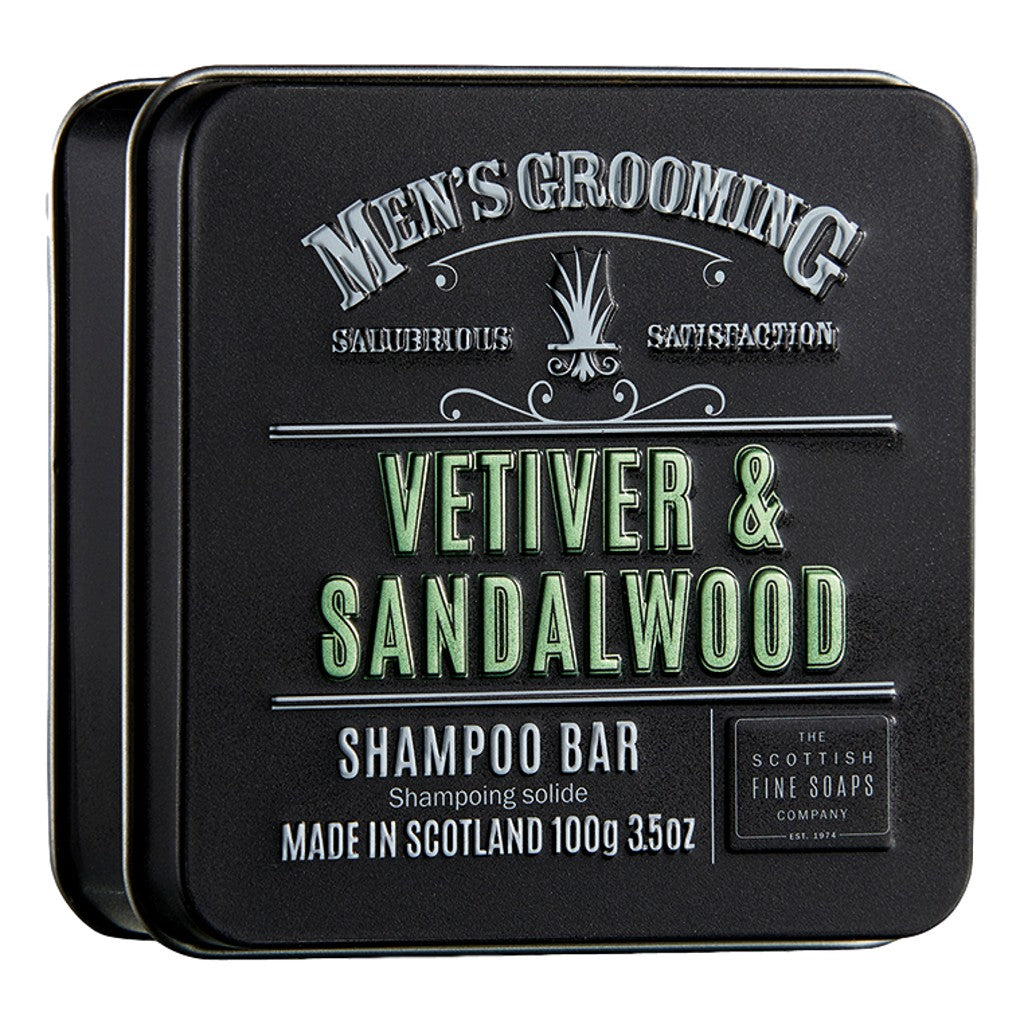 The Scottish Fine Soaps Company Vetiver & Sandalwood Shampoo Bar 100g - Cyril R. Salter | Trade Suppliers of Gentlemen's Grooming Products