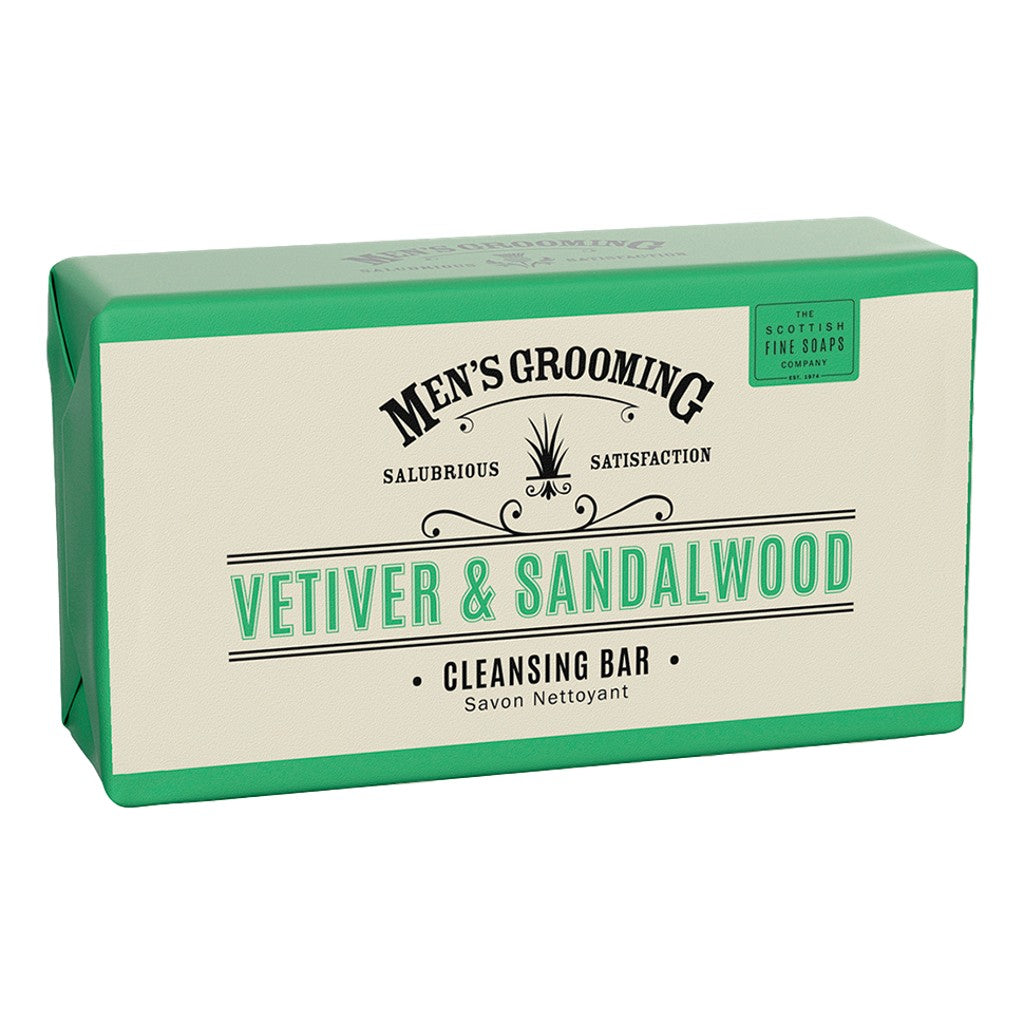 The Scottish Fine Soaps Company Vetiver & Sandalwood Cleansing Body Bar 220g - Cyril R. Salter | Trade Suppliers of Gentlemen's Grooming Products
