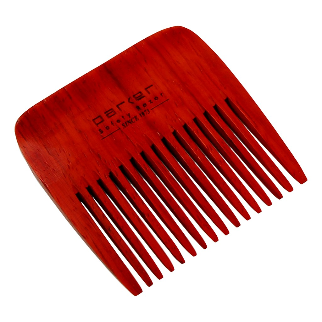 Parker Single Sided Rosewood Beard Comb - Cyril R. Salter | Trade Suppliers of Gentlemen's Grooming Products