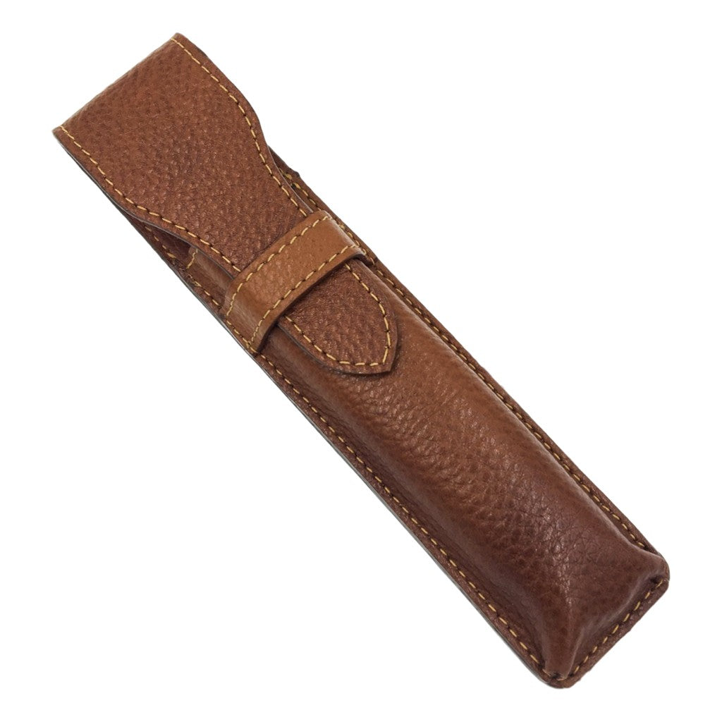 Parker Leather Saddle Case Straight Razors - Cyril R. Salter | Trade Suppliers of Gentlemen's Grooming Products