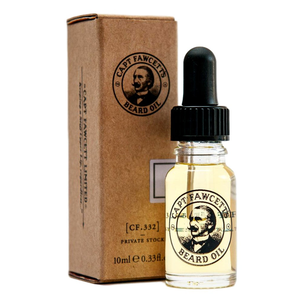 Captain Fawcett's Beard Oil Private Stock 10ml Travel Sized