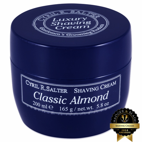 Cyril R. Salter Classic Almond Shaving Cream 165g