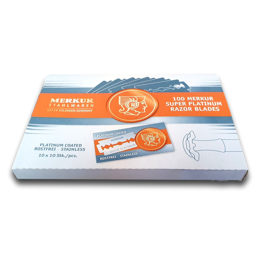 Cyril R. Salter | Trade Suppliers of Luxury Grooming Products - Merkur Super Platinum Razor Blades 100 Pieces