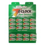 Gillette 7 O'Clock Super Stainless Safety Razor Blades - Cyril R. Salter