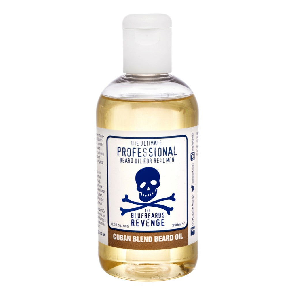 The Bluebeards Revenge Professional Range 'Cuban Blend' Beard Oil 250ml - Cyril R. Salter Cyril R. Salter | Trade Suppliers of Gentlemen's Grooming Products