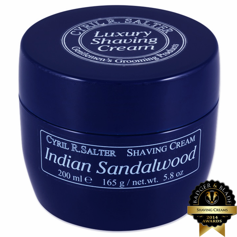 Cyril R. Salter Indian Sandalwood Shaving Cream 165g