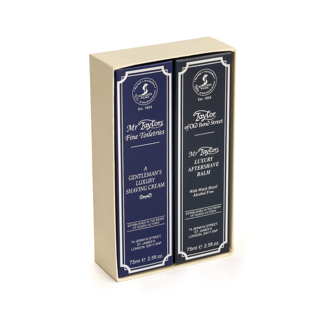Taylor of Old Bond Street Mr Taylor Shave Cream & Aftershave Balm Gift Box - 00202 - Cyril R. Salter