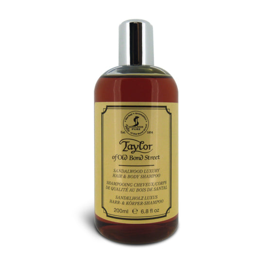 Taylor of Old Bond Street Sandalwood Hair and Body Shampoo 200ml - Cyril R. Salter