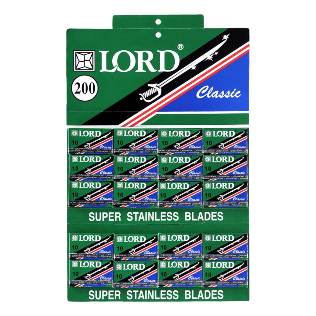 LORD Classic Double Edge S. Stainless Blades 10's (200) - Cyril R. Salter