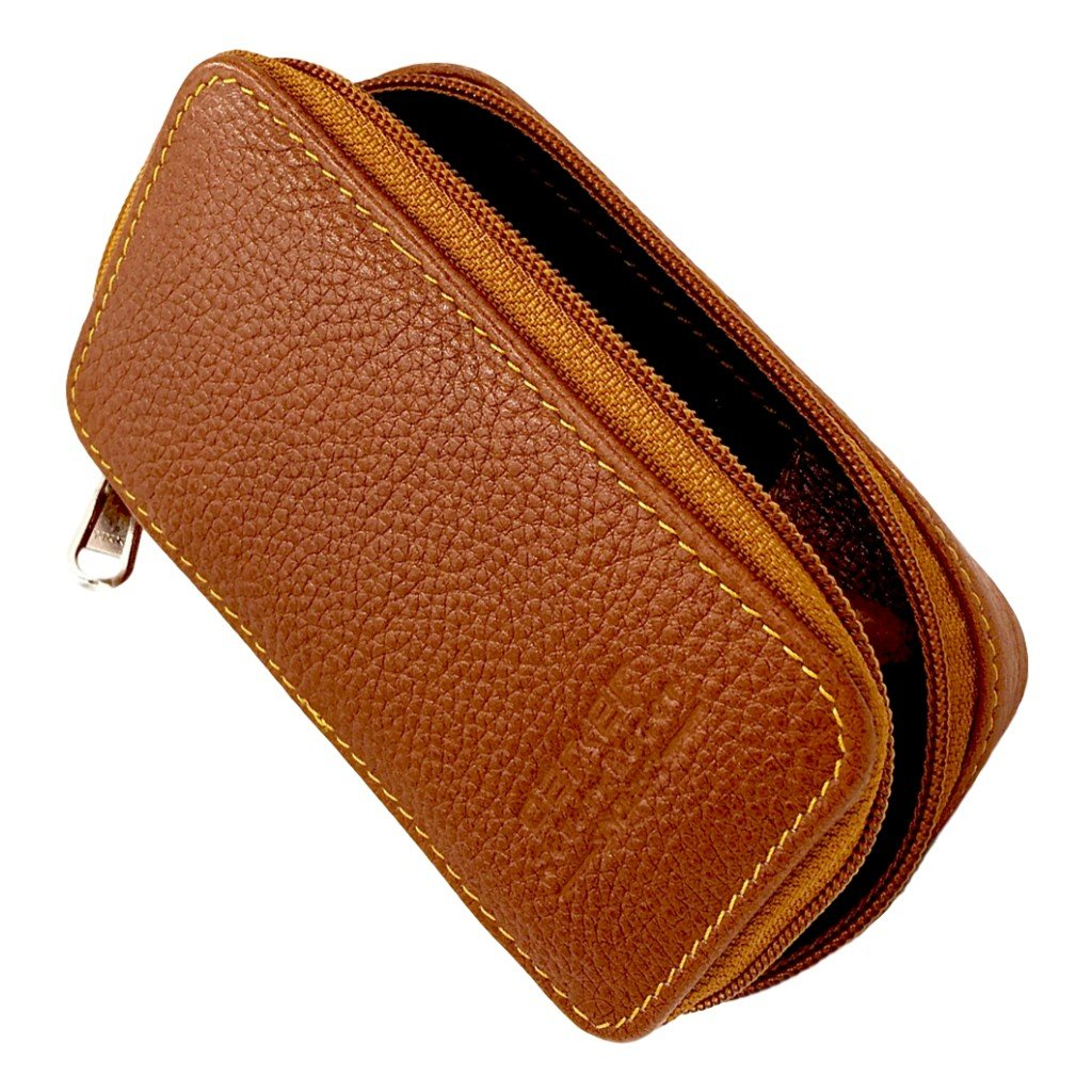 Parker Leather Saddle Zip Case - Cyril R. Salter | Trade Suppliers of Gentlemen's Grooming Products