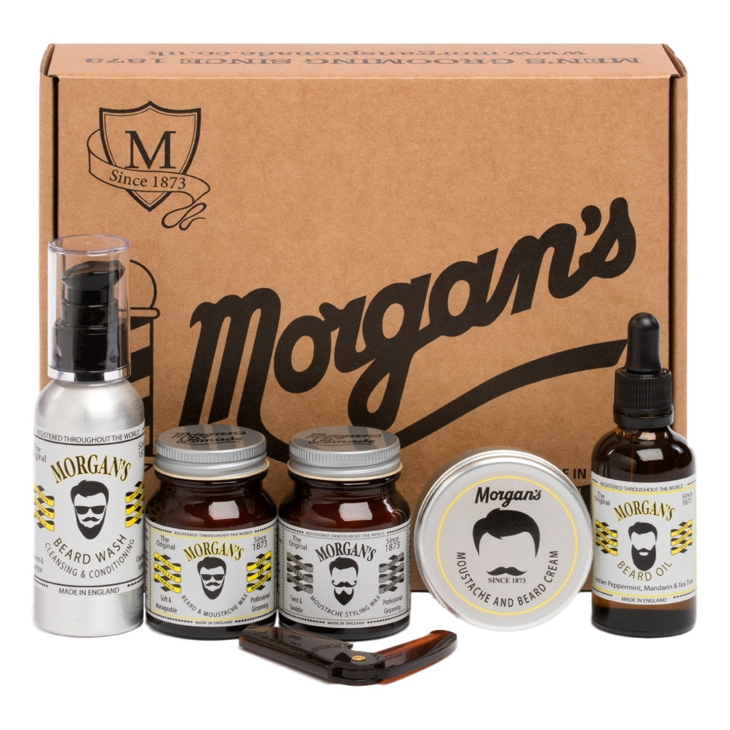 Morgan's Moustache and Beard Grooming Gift Set - Cyril R. Salter | Trade Suppliers of Gentlemen's Grooming Products
