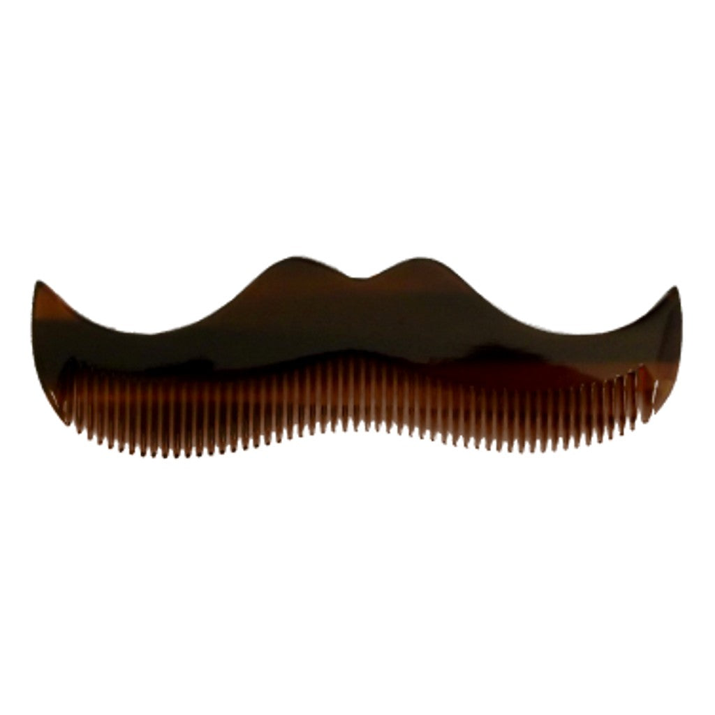 Morgan's Moustache Shaped Comb - Amber - Cyril R. Salter | Trade Suppliers of Luxury Grooming Products