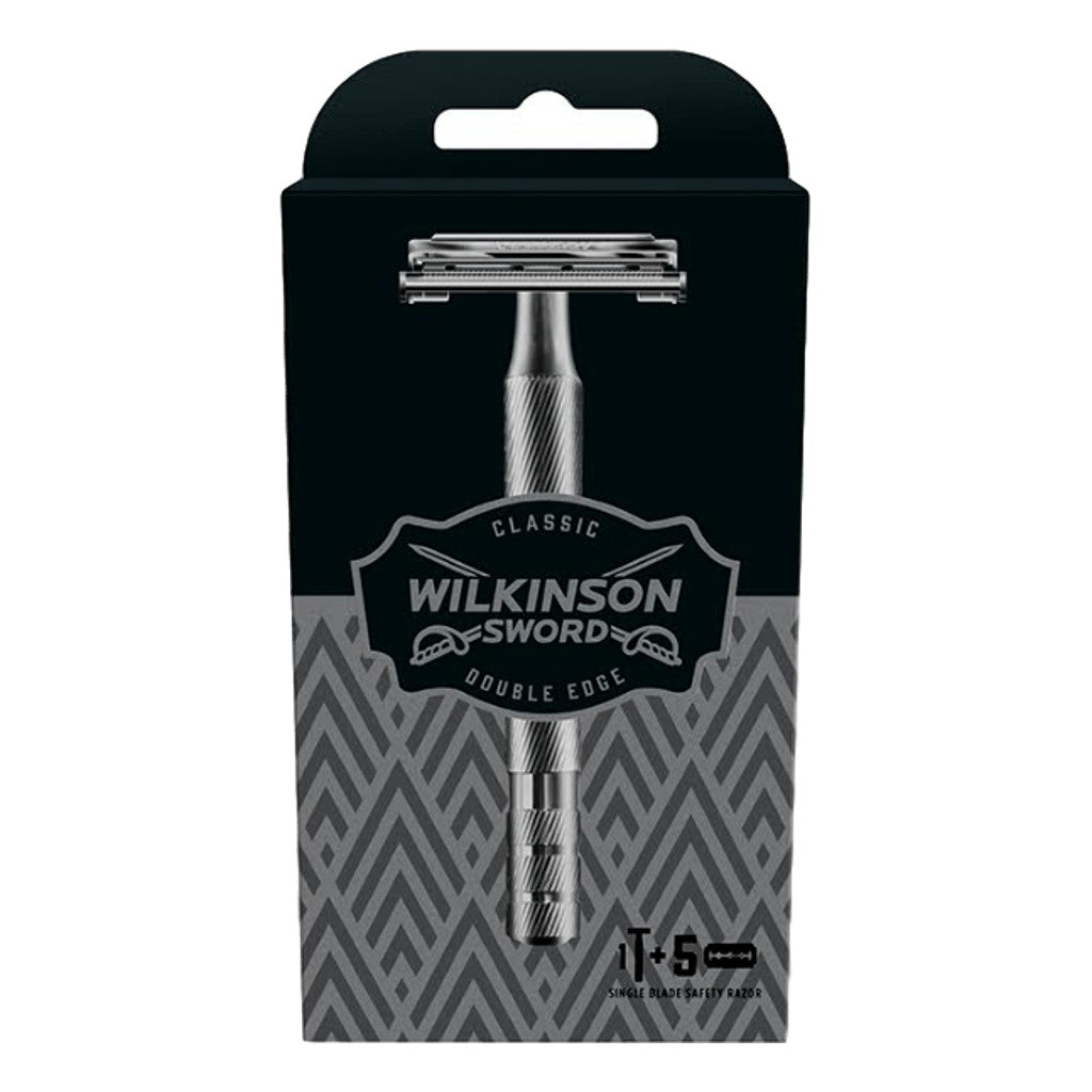 Wilkinson Sword Premium Classic Razor + 5 Blades - Cyril R. Salter | Trade Suppliers of Gentlemen's Grooming Products