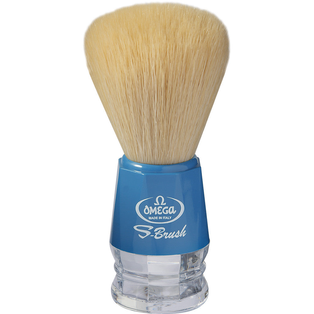 Omega 'S-BRUSH' Sky Blue Synthetic Shaving Brush S10018 - Cyril R. Salter