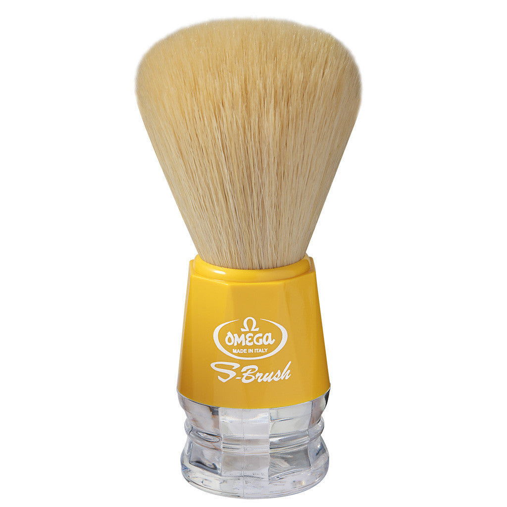 Omega 'S-BRUSH' Yellow Synthetic Shaving Brush S10018 - Cyril R. Salter