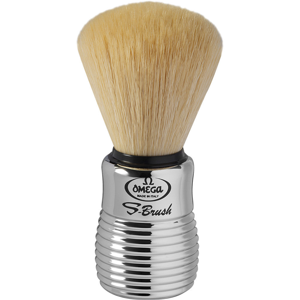 Omega 'S-BRUSH' Chrome Synthetic Shaving Brush S10081 - Cyril R. Salter