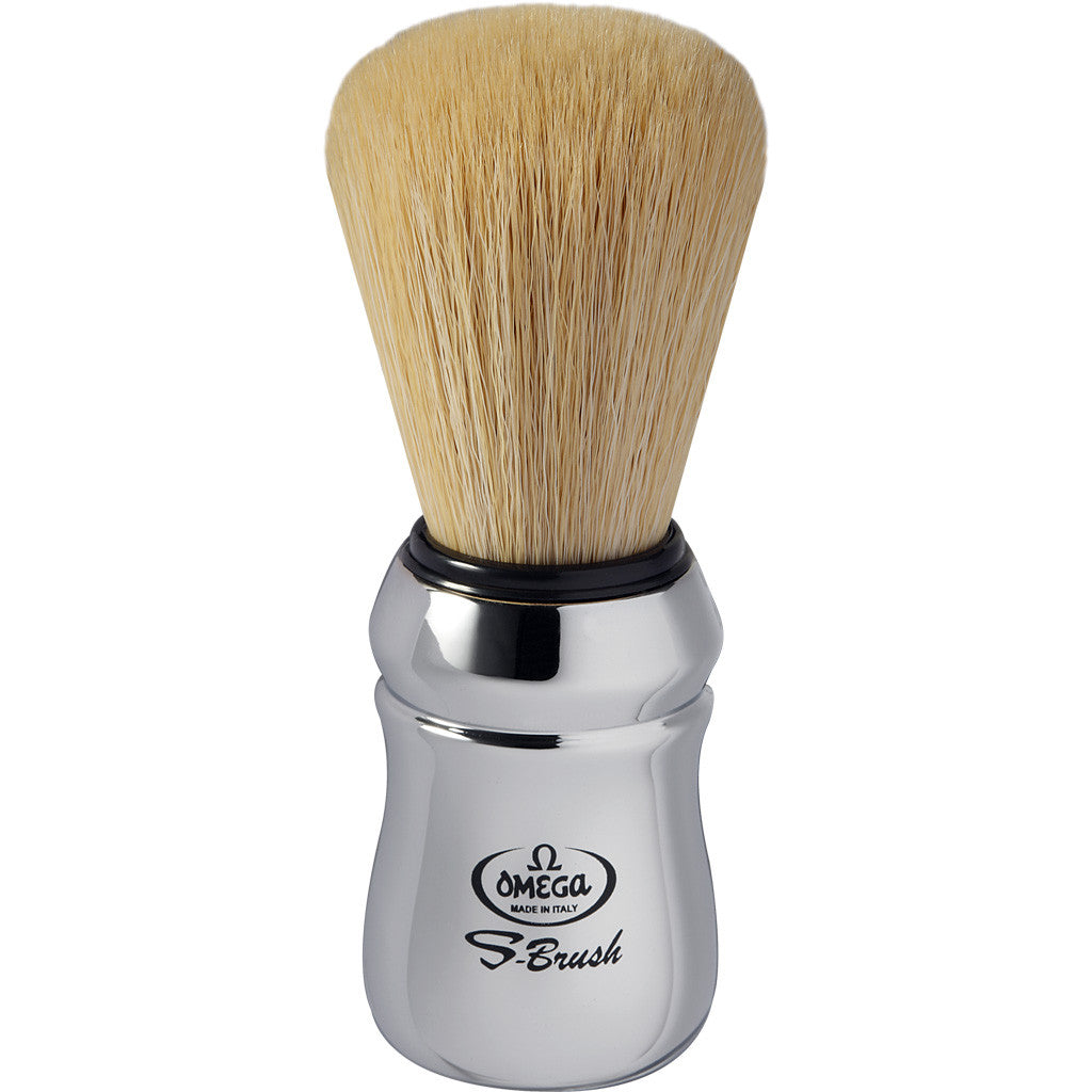 Omega 'S-BRUSH' Chrome Synthetic Shaving Brush S10083 - Cyril R. Salter