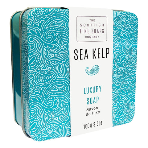 The Scottish Fine Soaps Company Sea Kelp Soap In A Tin 100g - Cyril R. Salter  | Trade Suppliers of Gentlemen's Grooming Products