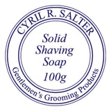 NEW Cyril R. Salter Solid Shaving Soap 100g Refill