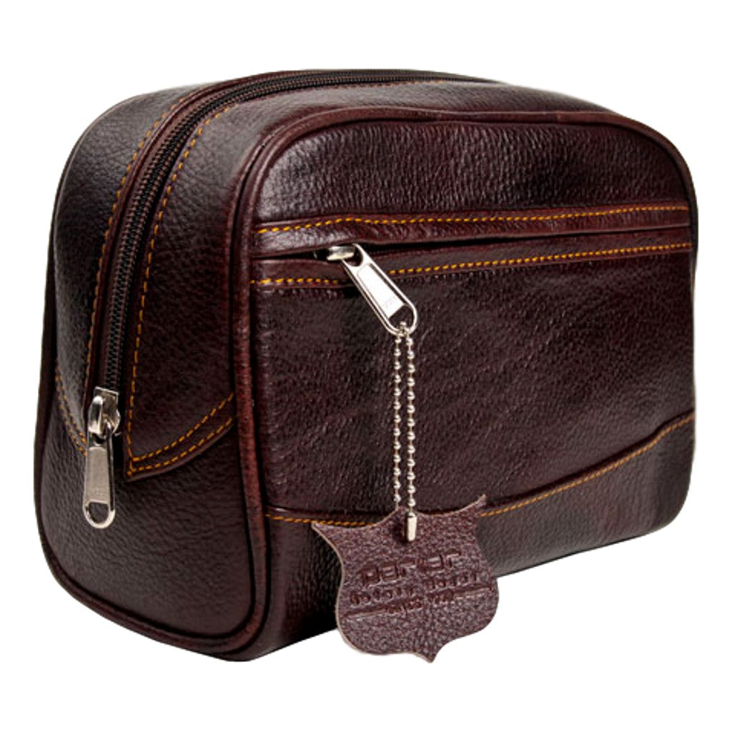 Parker Leather Dopp Kit Large - Cyril R. Salter | Trade Suppliers of Gentlemen's Grooming Products