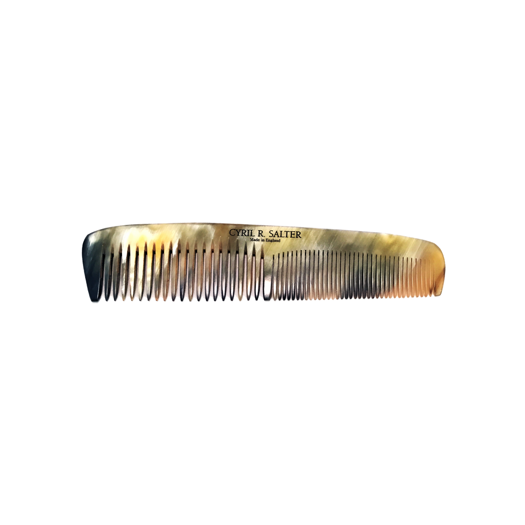 Cyril R. Salter Genuine Horn Double Tooth Comb 15cm