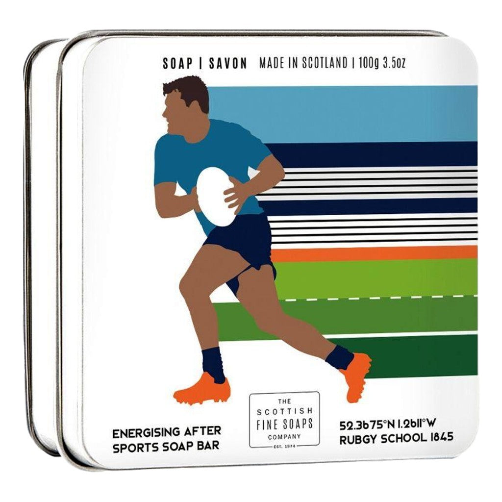 The Scottish Fine Soaps Company Sports Soap - Rugby 100g Tin