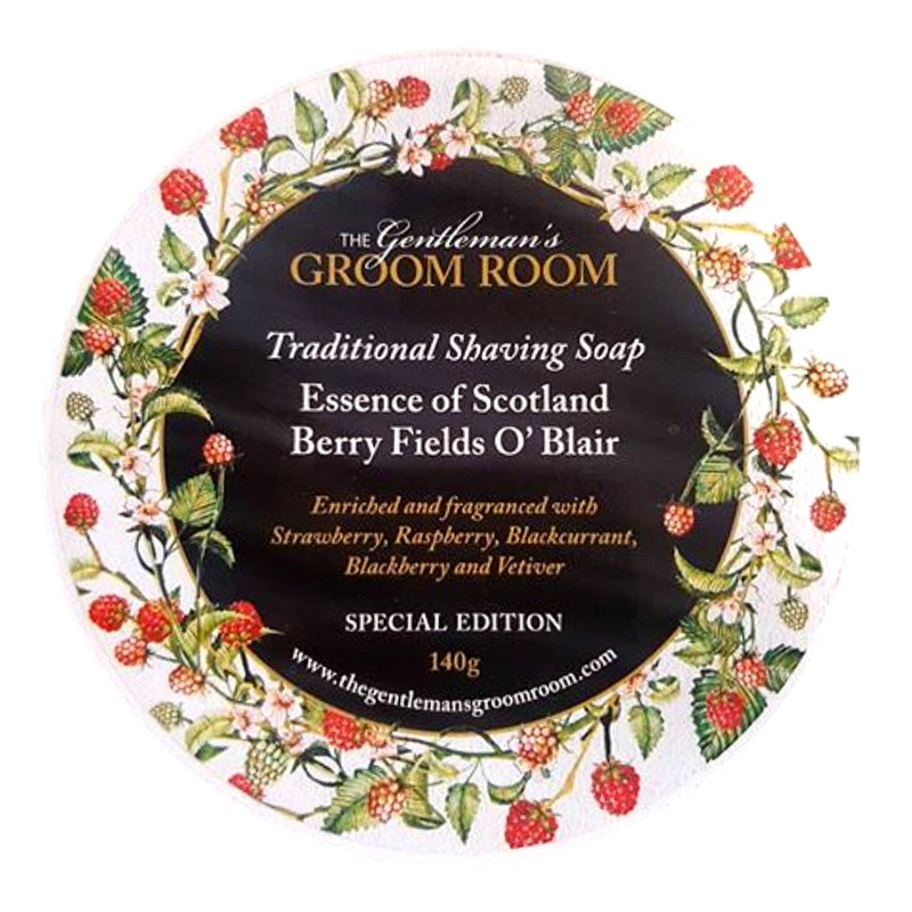 The Gentleman's Groom Room Essence of Scotland Berry Fields O'Blair Shaving Soap 140g - Cyril R. Salter | Trade Suppliers of Luxury Grooming Products