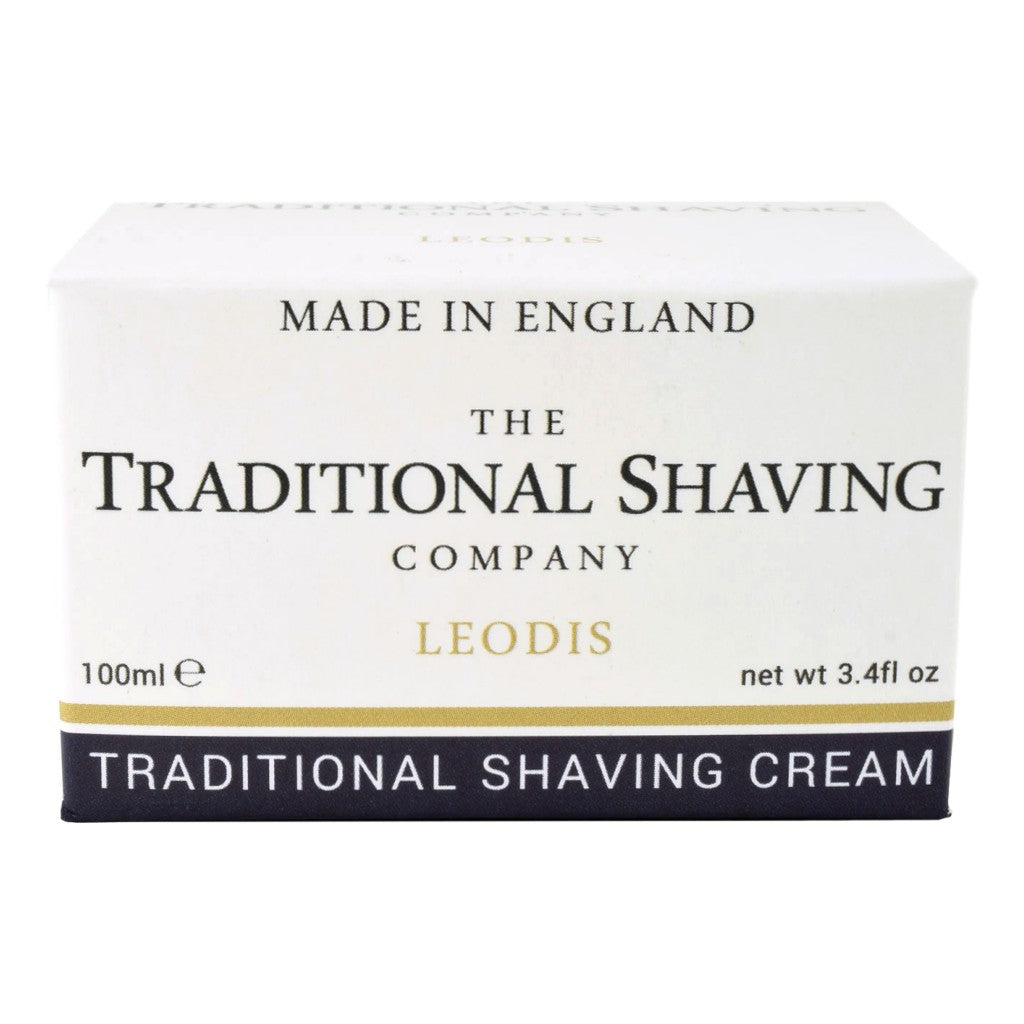 The Traditional Shaving Company Leodis Shaving Cream 100ml - Cyril R. Salter | Trade Suppliers of Gentlemen's Grooming Products