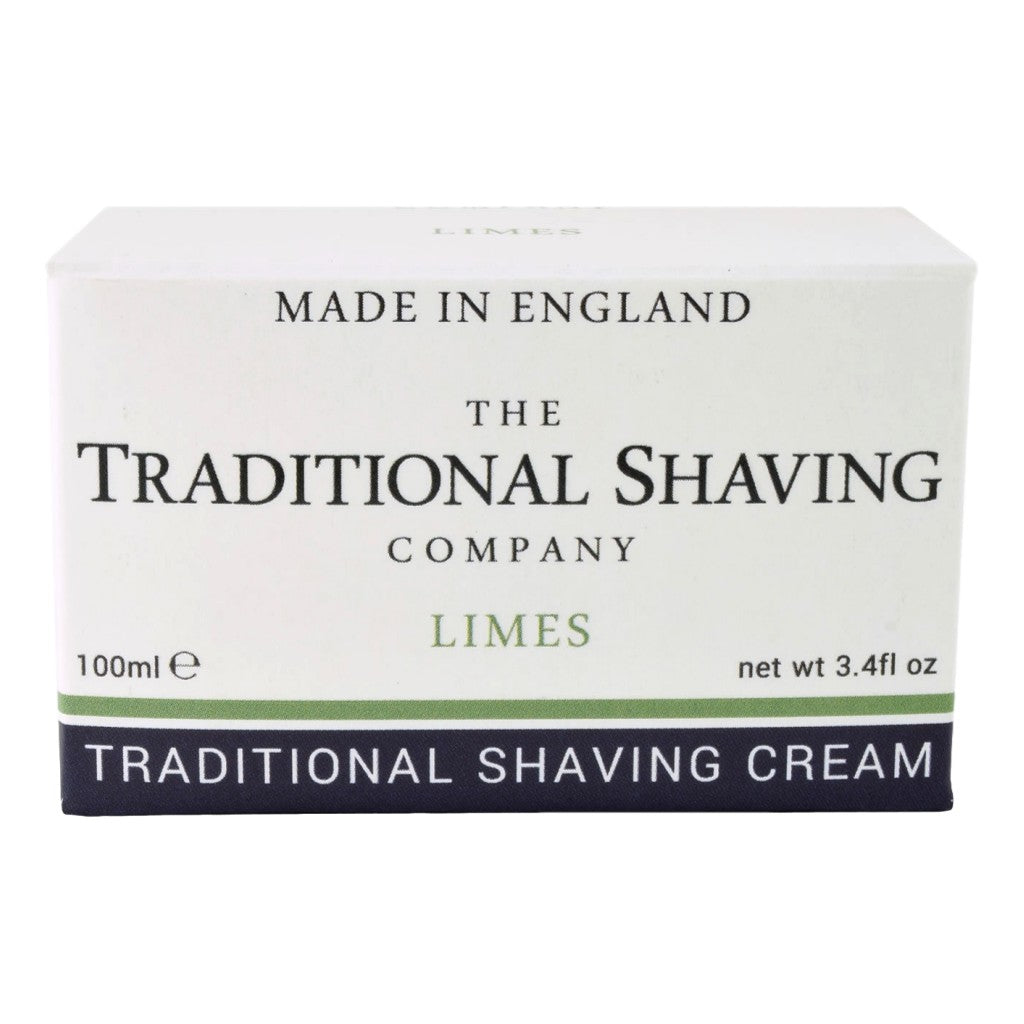 The Traditional Shaving Company Limes Shaving Cream 100ml - Cyril R. Salter | Trade Suppliers of Gentlemen's Grooming Products