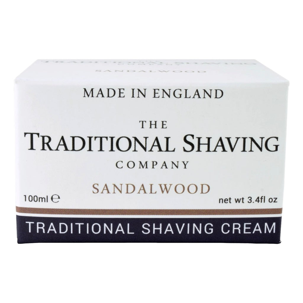 The Traditional Shaving Company Sandalwood Shaving Cream 100ml - Cyril R. Salter | Trade Suppliers of Gentlemen's Grooming Products