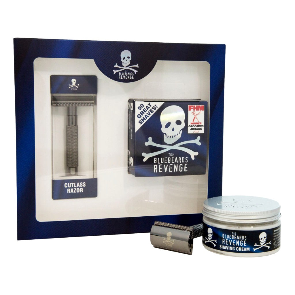 The Bluebeards Revenge Shaving Cream & Cutlass Razor Kit - Cyril R. Salter