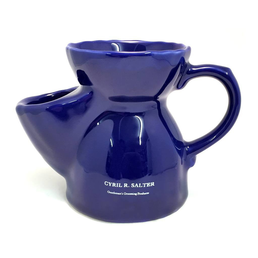 Shaving Bowls - Cyril R. Salter Blue Traditional Shaving Scuttle