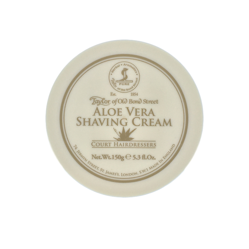 Taylor of Old Bond Street Aloe Vera Shaving Cream 150g - Cyril R. Salter