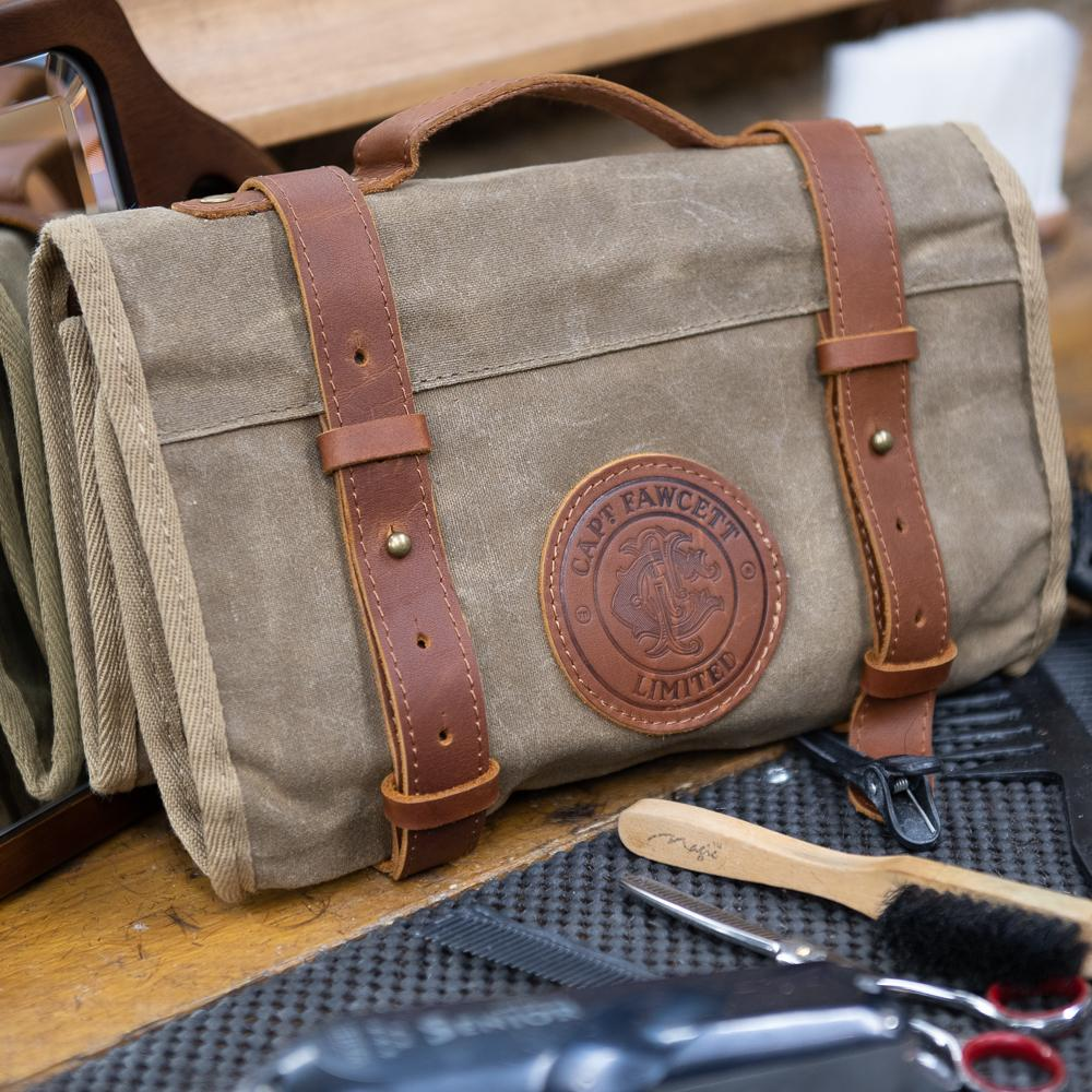 Captain Fawcett's Waxed Cotton Tool Roll