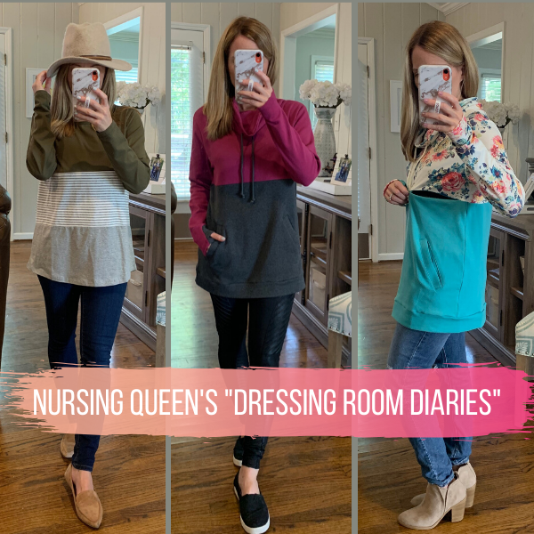 Dressing Room Diaries- Styling Your Fall Nursing Clothes