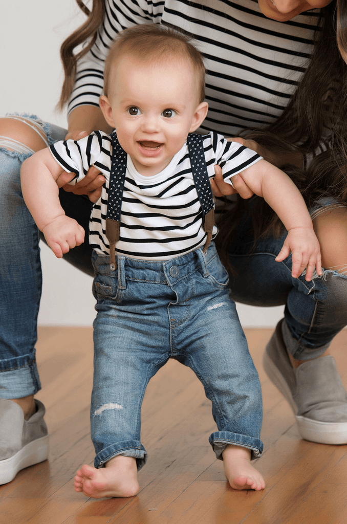 NURSING QUEEN Matching Striped T-Shirt For Baby - Black and White - Nursing Queen