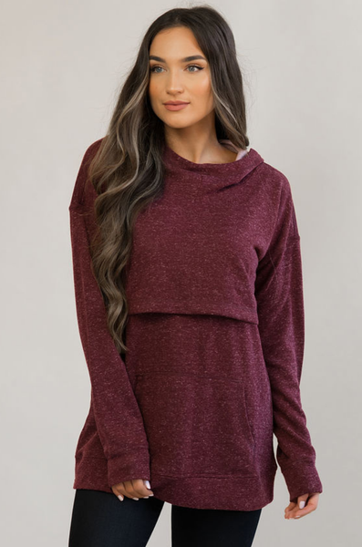 NURSING QUEEN Nursing Hoodie - Heather Maroon