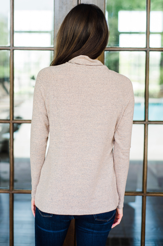 Long nursing sweater with asymmetrical flap