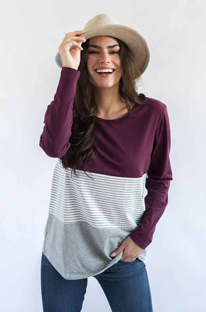 cute nursing top for fall