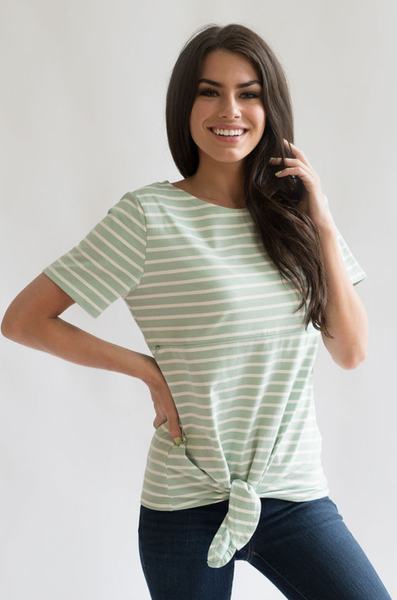Nursing tops for summer hidden zipper