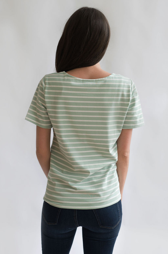 Striped Nursing Tee Back