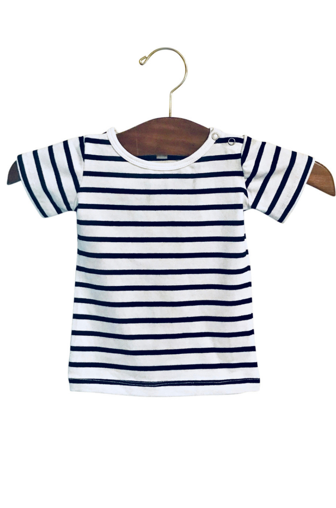 Matching Striped Baby and Toddler T-Shirt - Black and White