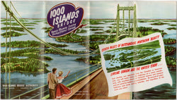 1000 Islands New York Scenic Skyway Canada Vintage Advertising Poster Brochure