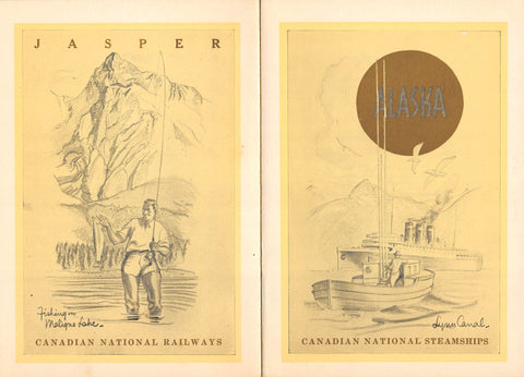 TSS Prince Robert Alaska Canadian Steamship Antique Dinner Menu 1939