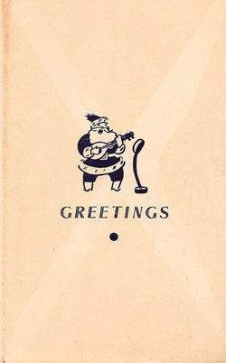 Metro Cinema Calcutta India Vintage WWII Christmas New Year Greeting Card 1944