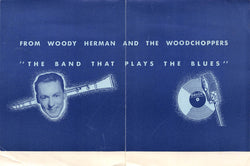 Woody Herman Big Band Music Vintage NBC Decca Records Christmas Greeting Card