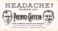 Phenyo Caffeine Headache Medicine Antique Pharmaceutical Advertising Ink Blotter