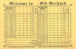 Old Orchard Country Club Mt Prospect Illinois Vintage United Golf Score Card