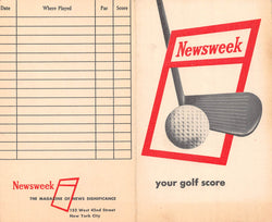 Newsweek Magazine Vintage Graphic Advertising Unused Golf Score Card