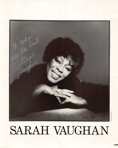 Sarah Vaughan American Jazz Music Singer Autograph Signed Studio Photo